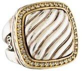 David Yurman Two-Tone Diamond Cable Ring