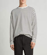 AllSaints Kleve Stripe Long Sleeve Crew T-Shirt