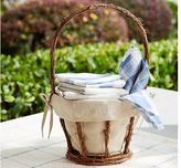 Pottery Barn Woven Basket with Personalizable Liner