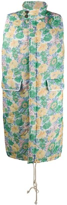 Plan C Floral-Print Padded Gilet