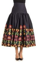 Stella Jean Women's Black Cotton Skirt.
