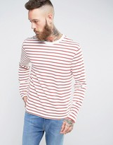 Levis Long Sleeved T-shirt Red Stripe