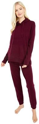 Splendid Stella Cashmere Lounge Jogger Pants (Black Cherry) Women's Casual Pants
