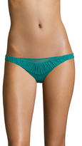 La Perla Gathered Trim Brazilian Bikini Bottom
