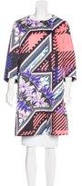 Mary Katrantzou Silk Blend Floral Print Coat