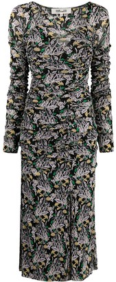 Diane von Furstenberg Floral-Print Ruched Dress
