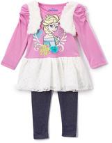 Children's Apparel Network Purple Frozen Top & Leggings - Toddler & Girls