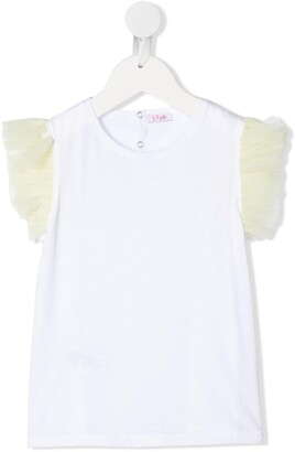 Il Gufo ruffled crew neck T-shirt