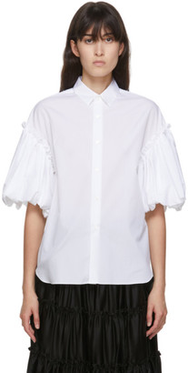 Noir Kei Ninomiya White Voluminous Short Sleeve Shirt