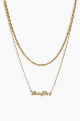 boohoo Plus Baby Girl Chain Choker Necklace
