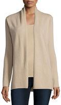 Neiman Marcus Cashmere Draped Cardigan, Plus Size