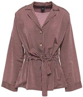 ELSE Dixie Striped Cotton-blend Pajama Top