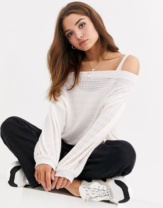 Free People Sistine Hacci off shoulder lightweight sweater