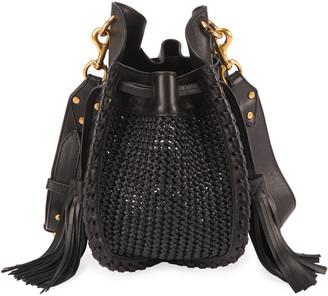 Isabel Marant Radja Woven Bucket Bag