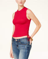 American Rag Juniors' Lace-Up Crop Top, Only at Macy's