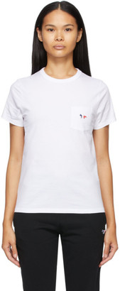 MAISON KITSUNÉ White Tricolor Fox Patch Pocket T-Shirt