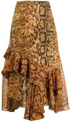 Preen by Thornton Bregazzi Ruffle Midi-Skirt