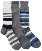 Cole Haan Town Stripe Crew Socks - Pack of 3