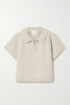 Madeleine Thompson Ryan Cropped Cashmere Sweater - Taupe