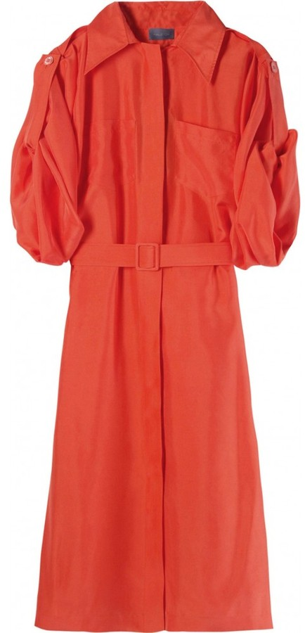 Halston SILK SHIRT DRESS