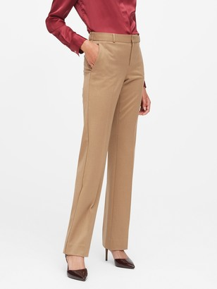 Banana Republic Petite Logan Trouser-Fit Flannel Pant
