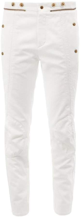 Chloé zipper detail panelled jeans