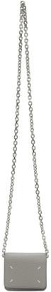 Maison Margiela Grey Stitch Chain Wallet Bag
