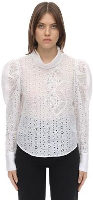 Isabel Marant Qyandi Rayon Broderie Anglaise Shirt