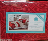 Martha Stewart Comforter Duvet Cover Gallery Tile Full/queen Flannel Cotton