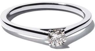 De Beers Platinum My First DB Classic solitaire diamond ring