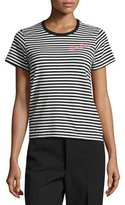 Marc Jacobs Animal Patchwork Cotton Tee, Black/Multi