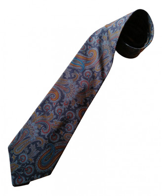 Etro Blue Silk Ties