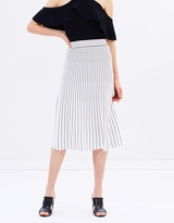 Whistles Gradual Stripe Knit Skirt