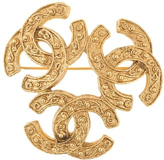 Chanel Pre Owned 1994 Triple CC brooch