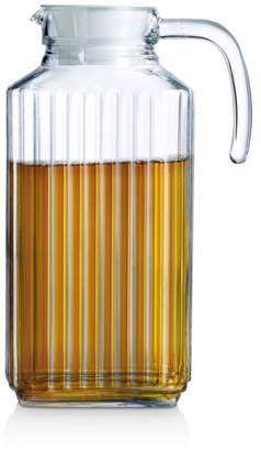Quadro Glass Pitcher with Lid