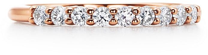 Tiffany & Co. Embrace band ring in 18k rose gold with diamonds, 2.2 mm wide