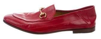 Gucci Jordaan Eel Skin Horsebit Loafers