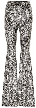 Vetements High-rise leopard-print flared pants