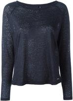 Woolrich long sleeve top - women - Linen/Flax - S