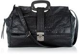 Envelope Tote In Croc Embossed Leather In Black Croco