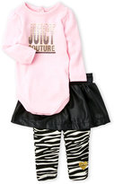 Juicy Couture Newborn/Infant Girls) 2-Piece Skirted Legging Set