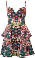 Black Halo printed spaghetti-strap dress