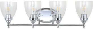 Jonathan Y Designs Marais 30In 4-Light Metal Glass Led Wall Sconce