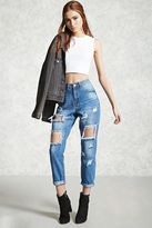 Forever 21 Distressed Boyfriend Jeans