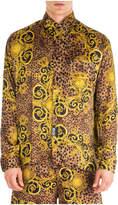 Versace Jeans Couture Long Sleeve Shirt Dress Shirt Leo Baroque