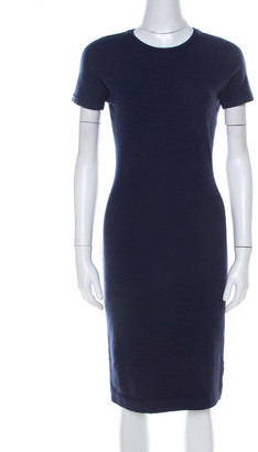 Marc by Marc Jacobs Navy Blue Wool Bow Detail Short Sleeve Sweater Dress XS