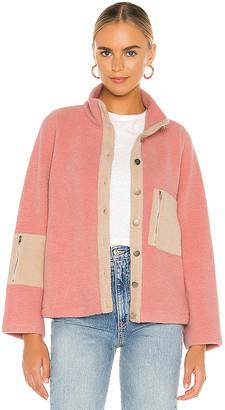 Line & Dot Callie Contrast Fleece Jacket