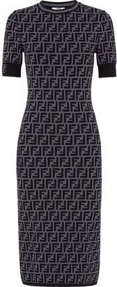 Fendi FF motif fitted dress