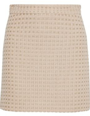 Milly Modern Metallic Wool-blend Tweed Mini Skirt