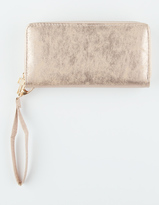 Metallic Double Zip Wallet